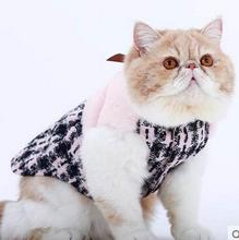 2016 Product For cat Grid Sweater Puppy Warm Coat T-Shirt Pet Clothes POLO Shirt Dog Apparel Small Dog Clothes For Pet Cat dress(China)