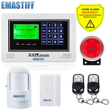 Wireless Home GSM SMS Alarm System Home/office/commercial/company Security Voic Prompt Intelligent Burglar Security Alarm System(China)