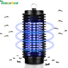 110V 220V EU US Plug Electronics Mosquito Killer Lamp Insect Pest Bug Zapper Repeller Blue Night Light No Radiation(China)