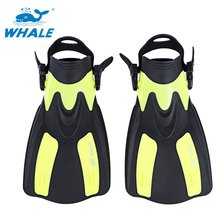 WHALE Scuba Diving Fins Swimming Flipper Short Flippers Snorkeling Shoes Men's Women's Free Swim Training Mermaid Monofin(China)