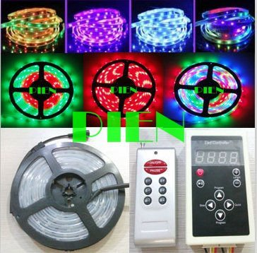 WS2811 Magic LED Strip dream color RGB 6803 IC 5050 digital tiras 5M waterproof 133 Program +RF Controller CE&amp;ROHS by DHL 20 set<br><br>Aliexpress