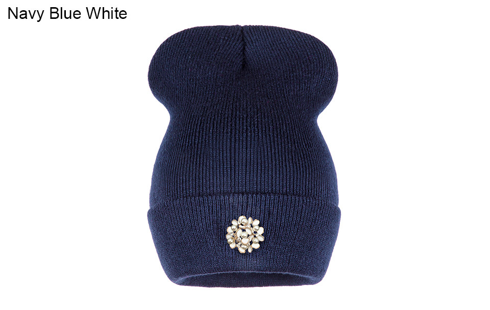 Ralferty Winter Hats For Women Flower Beanies Skullies Female bonnet femme gorros cappelli Cap Beanie gorra Black Acrylic Hat 4