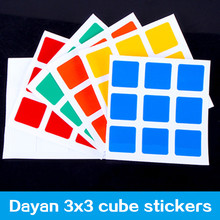 dayan zhanchi v5 magic speed cube pvc stickers 3x3x3 cube stand and sticker(China)