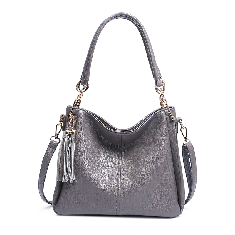 CHISPAULO Brand tassel gray Women Genuine Leather Handbags HOT SALE Women leather handbags Bolsa Femininas Crossbody tote X73<br><br>Aliexpress