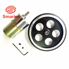 Official Smarian  One Set Accessory for Robot Car Chassis with 1pcs 95mm Metal Wheel +1 pcs 37# Motor + Screw +Tool phi 6mm diy