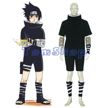 Japanese Anime Naruto Uchiha Sasuke 1st Gen. Cosplay Uniform Suit Men's Halloween Costumes Set Custom-made Free Shipping