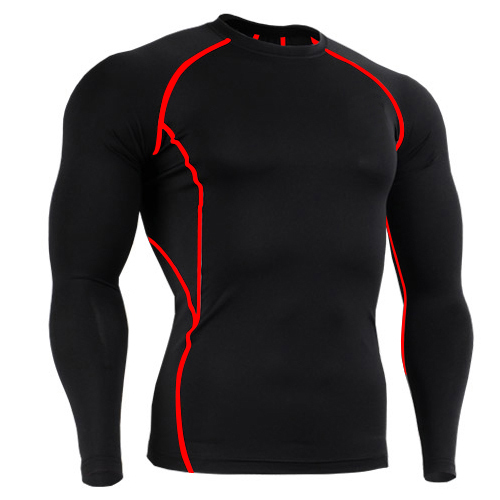 2017 brand mens base layer long underwear mens t shirts cycling long sleeve t-shirt solid large tall tee men tshirt