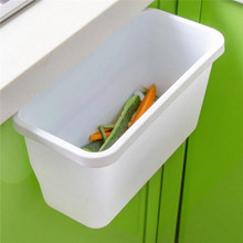 Kitchen Garbage Box Creative Cabinet Doors Hanging Trash Can Peel Storage Box Cute Color Garbage Box Wholesale R50(China)