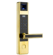Automatic lock fingerprint  door lock password IC card with emergency  mechanical key