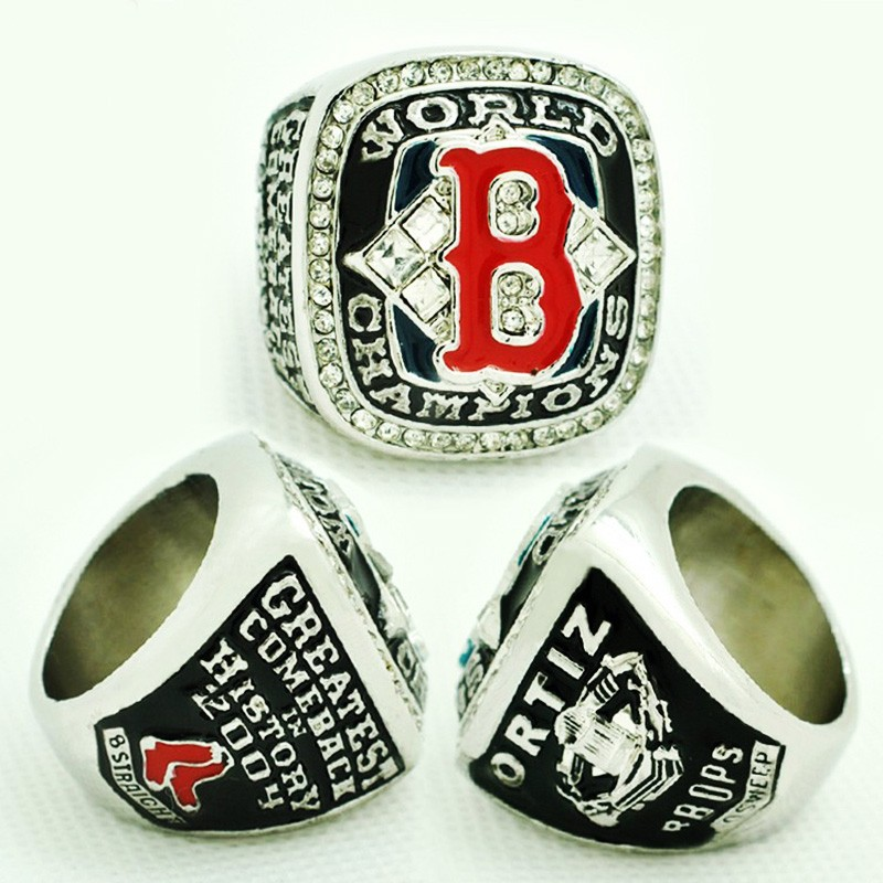 Boston Red Sox Championship Ring 2004 Replica World Series Baseball Rings Antique Jewelry USA Men Fan Best Gift  -  The Lord of Manufacturers Store store