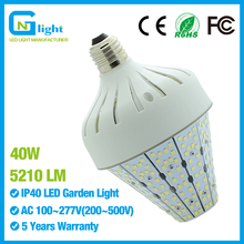 Larger Mogul E40 Base 40W Led Corn Light 135 Lm/w High Brightness Outdoor Area Lighting for Post Top Acorn(China)