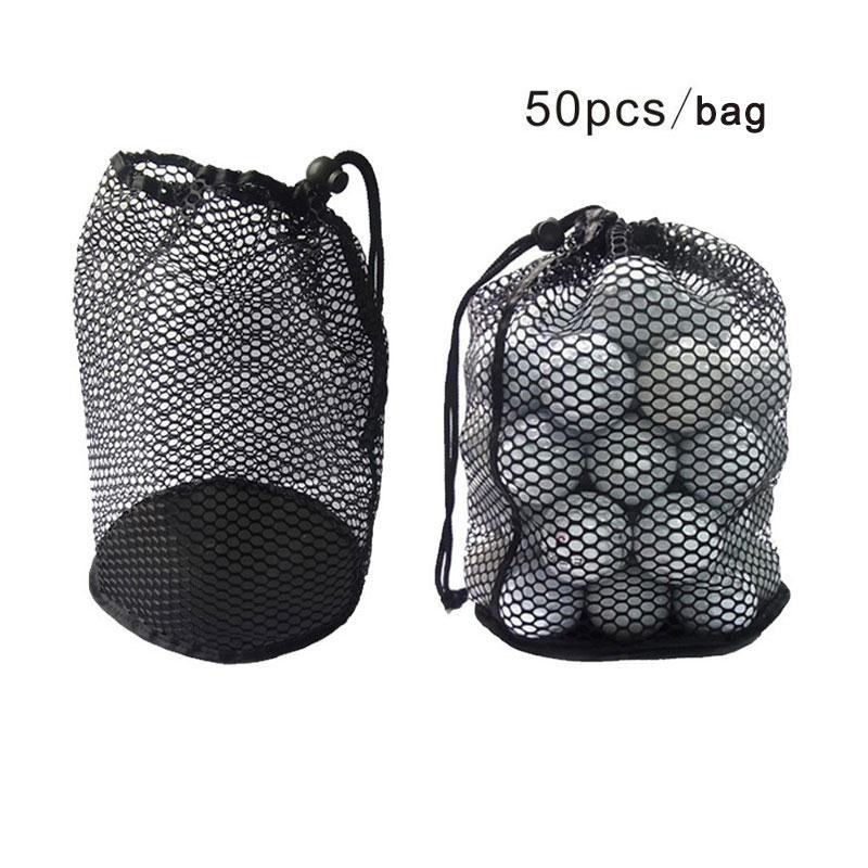 Outdoor Sports Golf Mesh Net Bag Golf Tennis 12/25/50 Balls Carrying Holder Drawstring Storage Pouch with Bottom only Mesh Bag(China (Mainland))