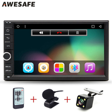 "AWESAFE 2 Din 7"" Car DVD Player 1024*600 Android 6.0 Universal Car Tap PC Tablet For Nissan GPS Stereo Audio Multimedia Player(China)"