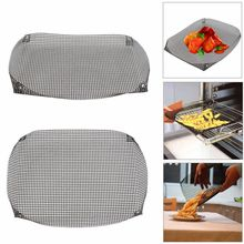 Hot Sale Reusable Non-stick Chip Mesh Oven Baking Tray Basket Grilling Pan Sheet Crisper Plate Dishes(China)