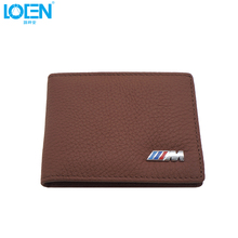 Genuine Leather Driver's License Bag For Ford Audi Kia Classical Wallet Purse Notecase Car M Logo Driver Licence Package For BMW(China)