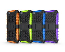 For Apple iPod Touch 5 6 Case Cute Cover 3D Smart Armor Tire Texture with Stand Cover for iPod 5 5G 6 Touch Cases silicone