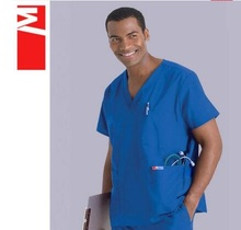 Hospital!Anti-wrinkle Resistance To Chlorine Bleaching Men Doctor Medical Clothing Nurse Scrub Sets,J53(China)