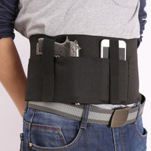 Holster Magazine-Gun Concealed-Carry Belly-Belt Elastic-Band Universal Adjustable Tactical