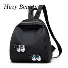 Hazy beauty New mini size women sequined eye backpack super hot lady shoulder hand bags easy fashion girls school bags DH821