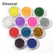 12 Colors Beauty Nail Glitter Powder Dust UV Gel Arcylic 3D Nail Art Dust Women DIY Manicure Decorations Make Up Tools WY207
