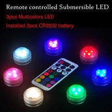 10Pcs/lot Round LED Vase Light Waterproof Battery Operated Holiday Lighting Submersible Centerpiece