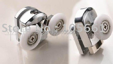 4X Double  Top& Bottom Shower Door Twin Wheels Rollers Runner...