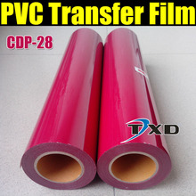 CDP-28 ROSE RED PVC Transfer film, Tshirts transfer Vinyl PVC, PVC heat transfer film for whole roll 50cmx25m