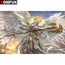 "HOMFUN 5D DIY Diamond Painting Full Square/Round Drill ""Angel warrior"" Embroidery Cross Stitch gift Home Decor Gift A09327(China)"