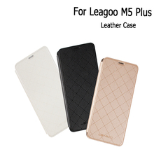 For Leagoo M5 Plus Battery Case Original Leather Cover Shell Smartphone Flip Protective Case For Leagoo M5 Plus Cellphone Case(China)