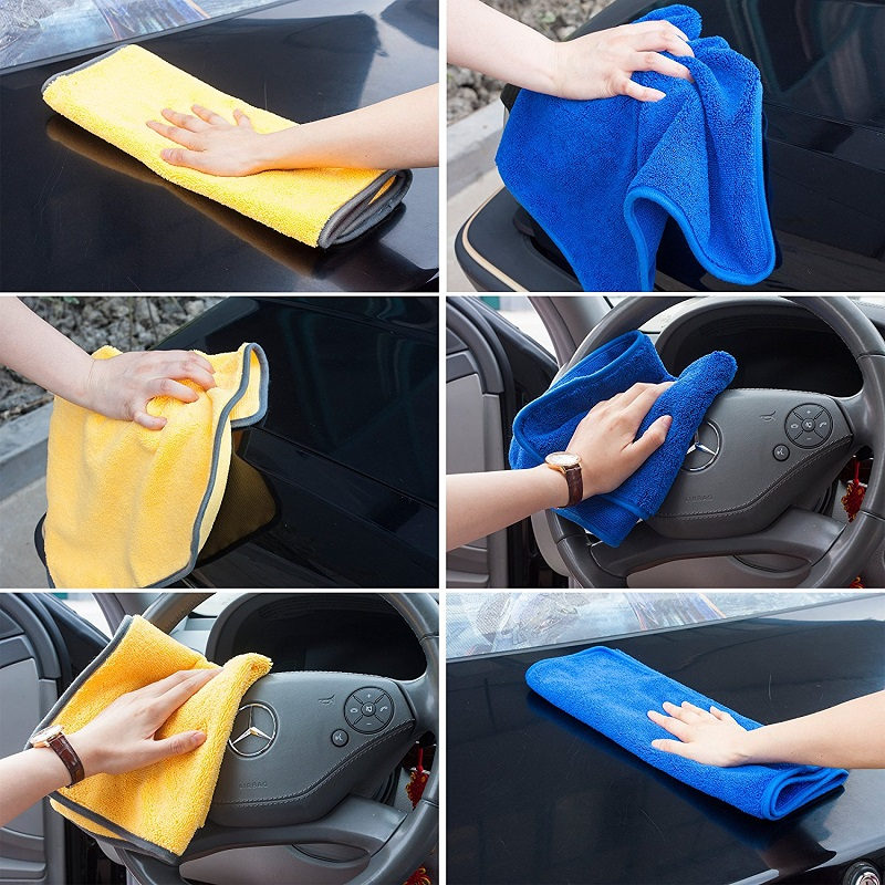 2 Pcs/set Auto Microfiber Towel Soft Absorbent Car Wash 40*40 cm Vehicle Windows Cleaning Eco-Friendly Cleaning Cloths CL011