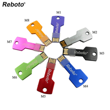 Key Shape usb flash drive 64GB U disk 32GB Gift pendrive 16GB 8GB 4GB multicolor pen drive memory stick Hot on sale(China)