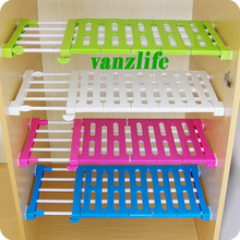 Vanzlife generation upgrade wardrobe storage rack cabinets kitchen partition nail free telescopic spacer frame
