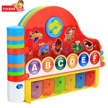 Kids Learning Machine Children Kids Learning Electronic Toy Musical Rhymes Book With Light Early Educational Toys(China)