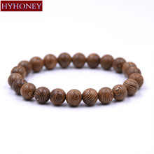 Buy HYHONEY 8MM beads Men Jewelry Buddhist Prayerartificial Wood Beads Buddha Bracelet men Bijoux for $1.38 in AliExpress store