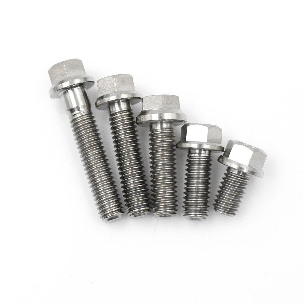 1pc Stainless Steel M6Hex Flange Screws Cap Washer Head Bolts Titanium Socket Flange Bolt Cap Screws