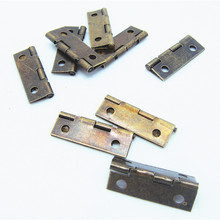 50pcs 24*10mm Within a 90-inch flat wooden boxes built hinge positioning small metal cabinet hinge