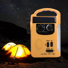 2017 New Dynamo Radio Solar Powered Wind Up AM/FM Radio Receiver with Emergency LED Flashlight Torch for Outdoor Campping