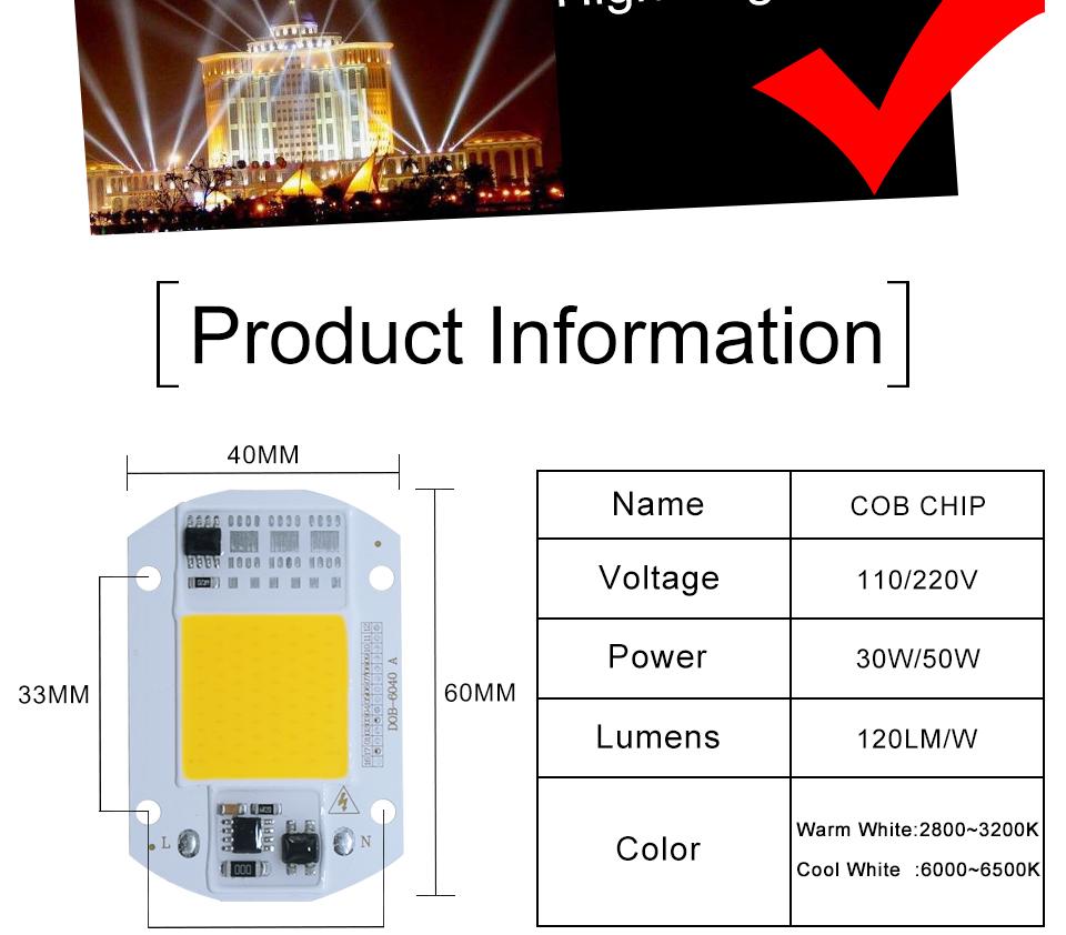 led cob lamp bulb white warm white 220v 110V with smart ic driver (3)
