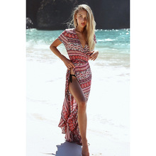 New Pattern Summer Posimi Second Sandy Beach Dress A Housing Unlined Upper Garment The Ride Even Dress(China)