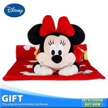 Disney Minnie Mouse Plush Stuffed Toy Peluches Doll Multifunctional Pillow Back Cushion Portable Children Gift Warm Blanket Toys(China)
