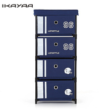Ship From US/UK/FR Antique Style Fabric 4-Drawer Home Office Storage Cabinet Organizer for Clothes Toys Sockets Storage Box(China)