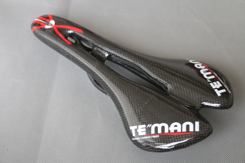 TEMANI full carbon saddle bike seat 3K Glossy Black bicycle saddle bike accessory<br>