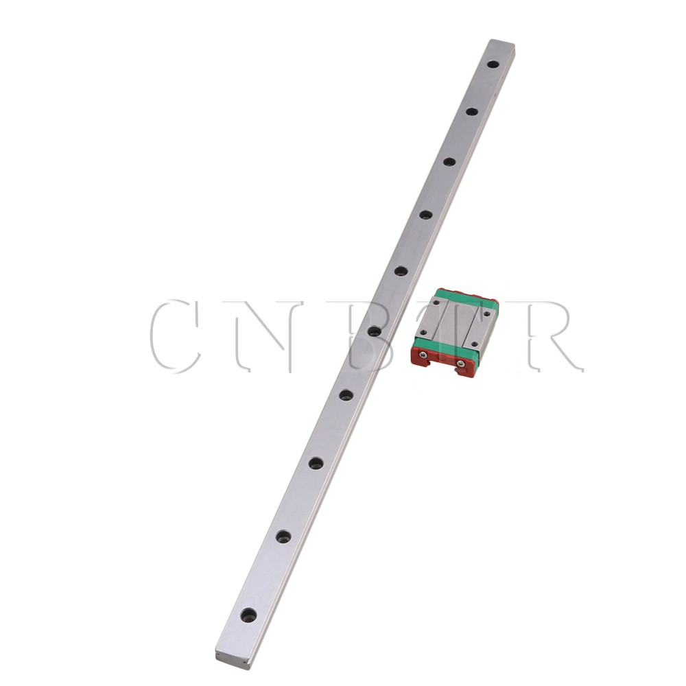 CNBTR 400mm Length Bearing Steel Linear Sliding Guide Slide Rails &amp; MGN15 Linear Extension Block for CNC 3D Printer <br>
