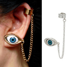 12pcs New 2015 Fashion Punk Tassels EYE Eyes ear cuff for Women/Girl's jewelry gifts cool chain link contact clip earring