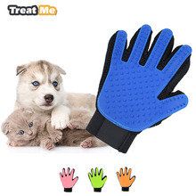 Pet Dog Cat Deshedding Brush Glove Pet Grooming Massage Bathing Brush Comb Dog Cat Clean Hair Glove Combs Grooming Supplies(China)