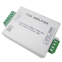 Data Repeater RGB Signal Amplifier For SMD 3528 5050 LED Strip Light DC 5V 12V 24V 24A