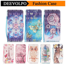 DEEVOLPO Wallet Flip Leather Case for Apple iPhone 5 5S SE 5SE 6 6S 7 Plus Cover For ipod touch5 touch 6 Magnetic 3D Cover DP21