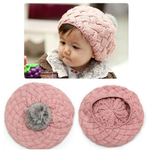 Toddler Hats Solid Crochet Caps New Bonnets Autumn Girl Cap Warm Wool Beanies Crochet Infant Hat Winter Bonnet Baby Accessories
