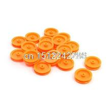 20Pcs Orange Plastic DIY Belt Drive Gear Pulley for RC Toy Car Airplane