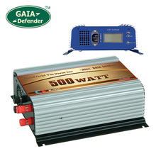 500W Wind Grid Tie Inverter with LCD/Dump Load Controller for 22V-60V wind turbine AC 220V 230V 240V 3 phase generator